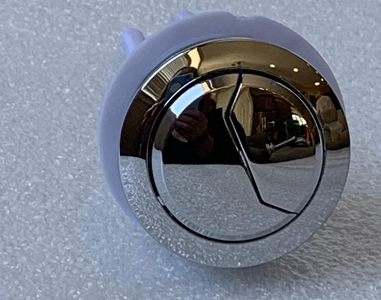 Bathroom Dual Flush Push Chrome Buttons Toilet Lid Water Tank Cistern 48mm Hole