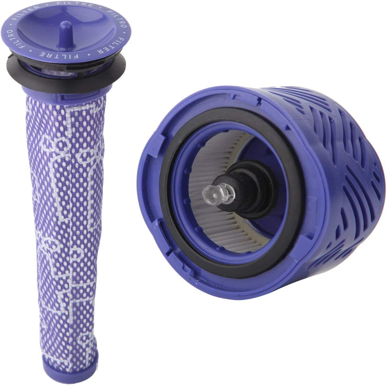 SODIAL 1 Pré Filtre Et 1 Kit De Filtres Hepa pour Dyson V6 Absolute sans Fil Stick Aspirateur. Remplace La Pièce 965661 01 Et 966741 01