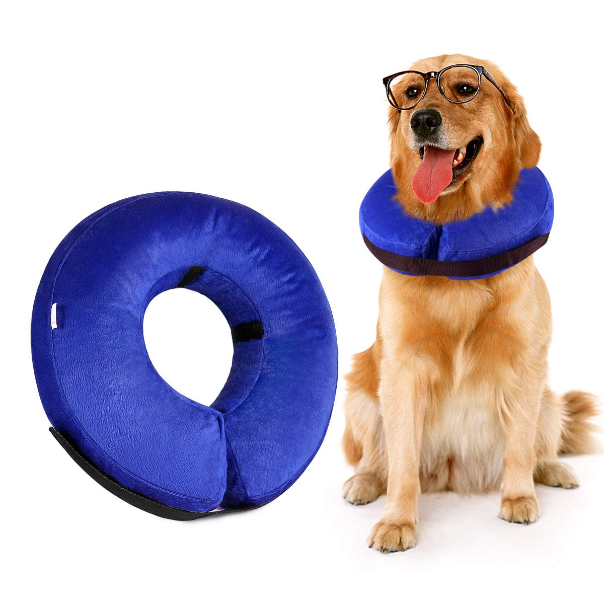 Vitorun Dog Cone Collar, Protective Inflatable Collar for Dogs and Cats - Pet Recovery Collar Does Not Block Vision E-Collar (Large) by Vitorun