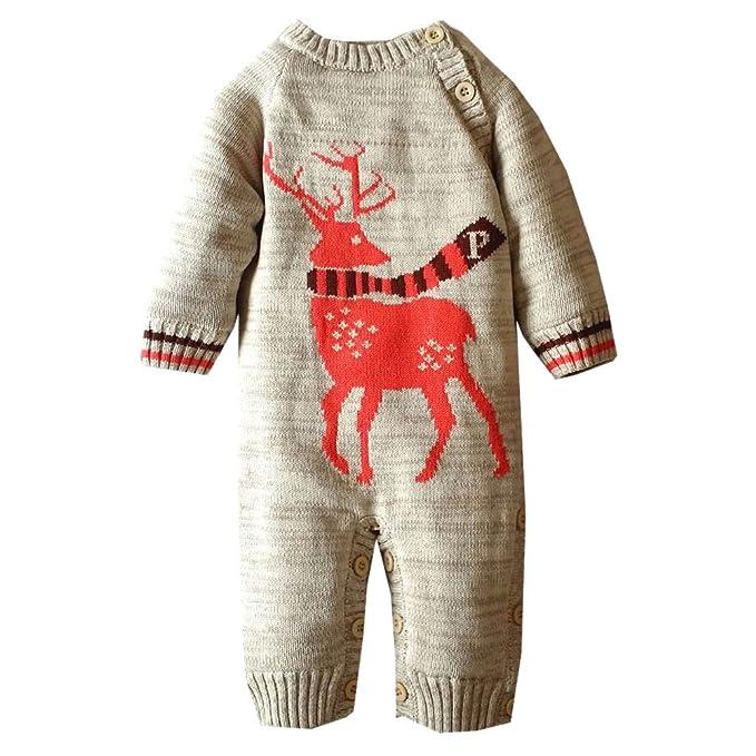 MNBS Peleles bebe invierno suéter sweater sudaderas niño suéter navidad-Gris-18M: Amazon.es: Ropa y accesorios
