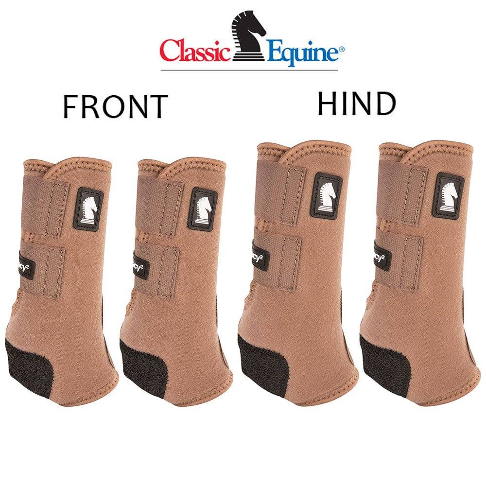 Classic Equine SMALL LEGACY2 HORSE FRONT HIND SPORTS BOOTS 4 PACK CARIBOU by Classic Equine