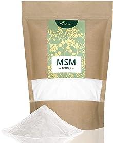 VERGLEICHSIEGER 2017* MSM Pulver Vegavero   1000 g - 1 kg   99,9% reines MSM - Premiumqualität   Laborgeprüft   organischer Schwefel   Vegan und OHNE Zusatzstoffe