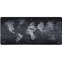 Eligoo World Map Tapis de souris Gaming XXL 900 x 400mm Grand souris tapis Mousepad Tapis Clavier Tapis de bureau Base en gomme Compatible Souris Laser Optique PC Gamers