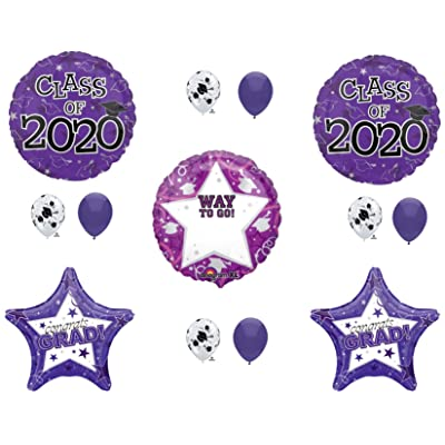 PERSONALIZE! CLASS OF 2020 PURPLE Graduation Party Balloons Decoration Supplies Graduate: Everything Else