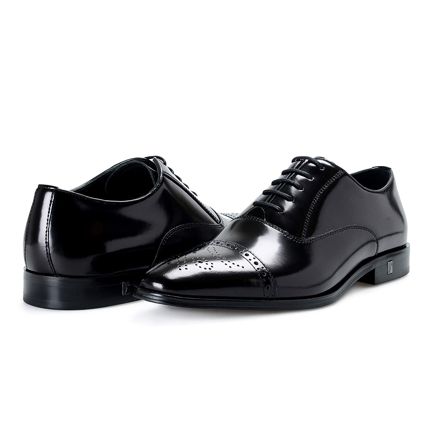 524d2aa3d675b Amazon.com: Versace Collection Men's Black Leather Lace Up Wing Tip ...