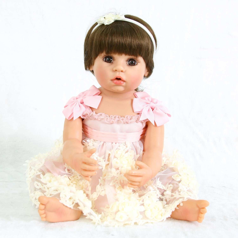 PursueフルボディRebornベビー幼児用ガール人形開いた口Abriana、22インチAdorable Real Life新生児赤ちゃん人形コレクション   B07DG83X99