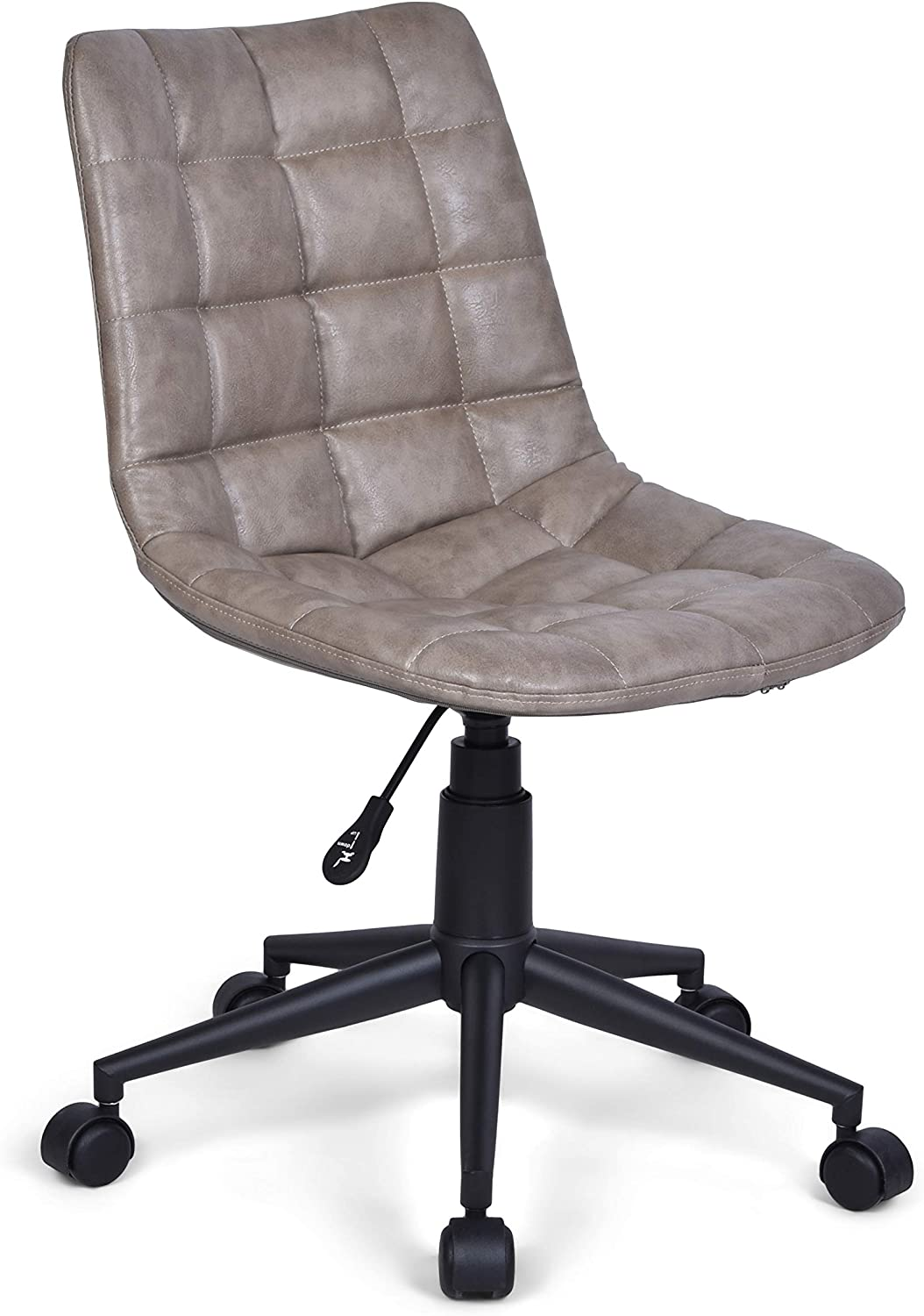 Simpli Home Chambers Swivel Adjustable Executive Computer Office Chair in Distressed Grey