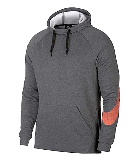 c0317a9df070 Nike Men s Dry Training Hoodie Charcoal Grey 905594 071 at Amazon ...