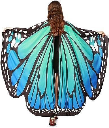 Alas De Mariposa Chal Mariposa Mujer Poncho Capa Duendecillo para ...