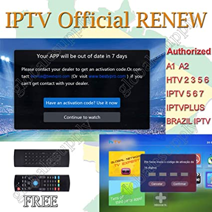Brazil iptv Renewal 16-Digit yearly Renew Code for HTV 2 3 5 / A2 / A1 /  IPTV 5 6 / IPTV5+Plus Portuguese TV Box Subscription Service Valid for 13