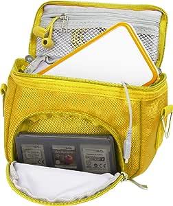 Orzly Travel Bag for Nintendo DS Consoles (New 2DSXL / 3DS / 3DSXL / New 3DS / New 3DS XL/Original DS/DS Lite/DSi/etc.) - Includes Belt Loop, Carry Handle, Shoulder Strap - Yellow