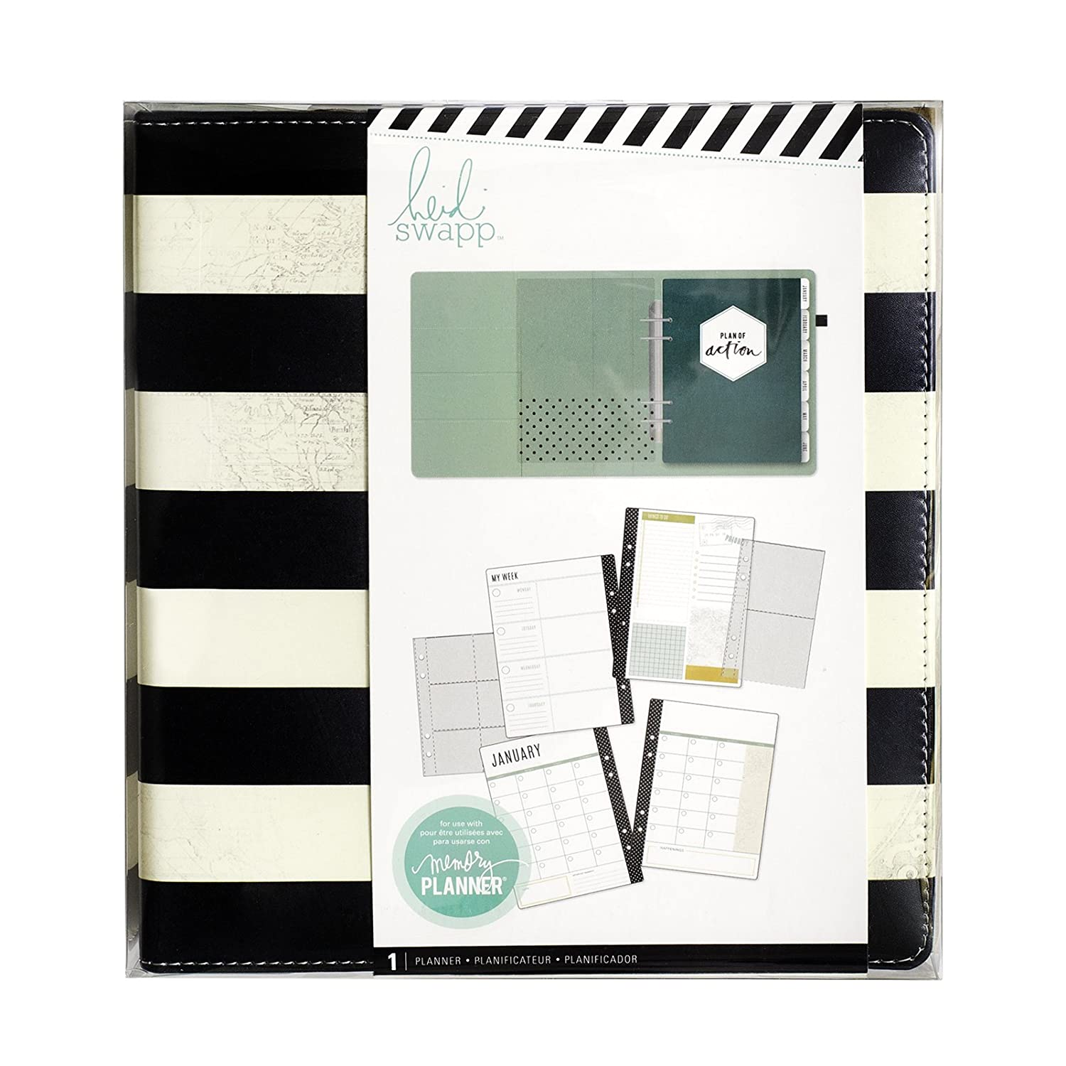 American Crafts 319915 Heidi Swapp Memory Planner 122Piece Large Stripe Kit