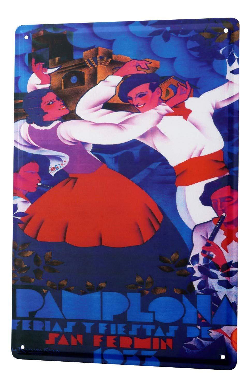 Amazon.com: Tin Sign Wanderlust City Navarra Pamplona dance ...