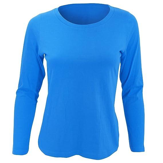 SOLS- Camiseta de manga larga Majestic para chica mujer  Amazon.es  Ropa y  accesorios 471b84a9be846