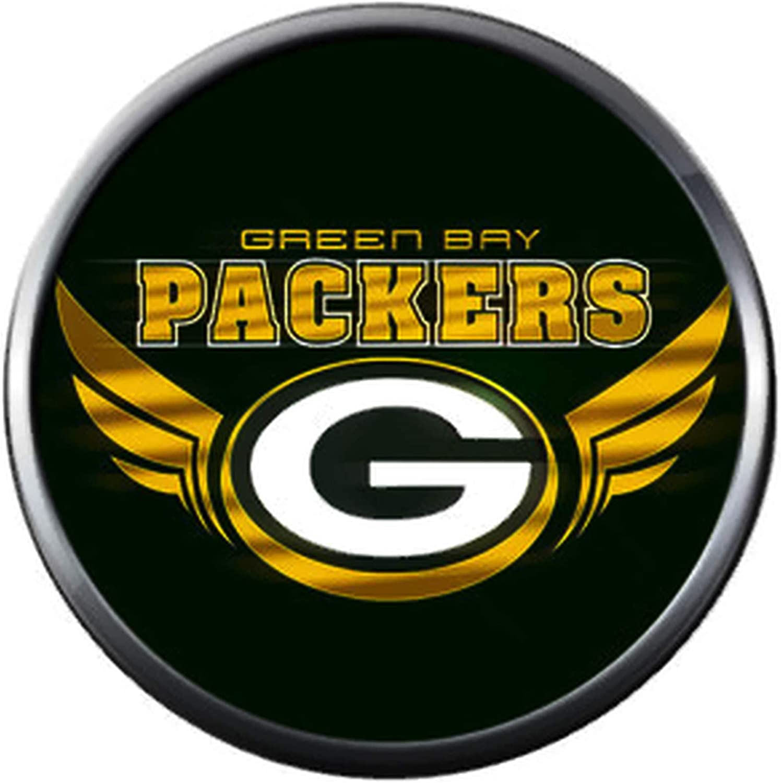 Amazon Com Nfl Green Bay Wisconsin Packers Wings Logo Football Fan Team Spirit 18mm 20mm Fashion Snap Charm Jewelry