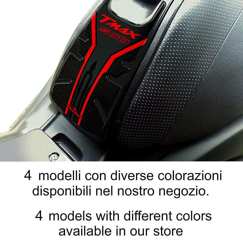 Carbon Bianco Protezione Sportello Serbatoio Adesivo 3d Per Yamaha Tmax 2001-07