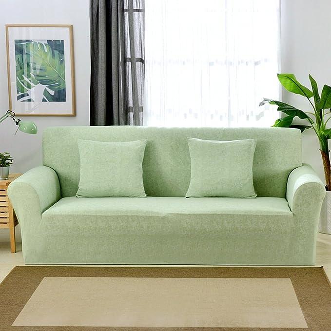 Funda elástica protectora y antideslizante de poliéster para sillones de 1, 2, 3 o 4 plazas, Verde, 1 Seater:90-140cm