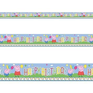 Peppa Pig - Pancarta de decoración de cumpleaños, diseño de ...