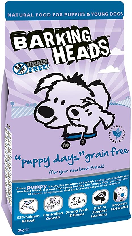 Amazon Com Barking Heads Puppy Days Grain Free Puppy Food 2kg