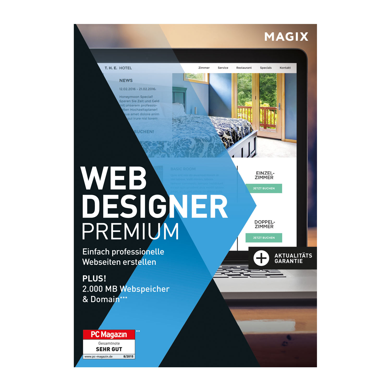 MAGIX Web Designer Premium – 15 – Professionelle Websites selbst ...