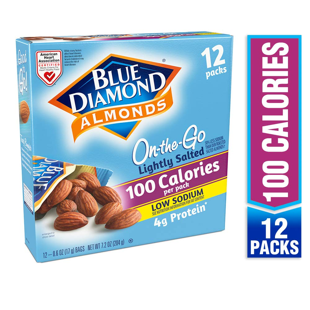 Blue Diamond Almonds On the Go 100 Calorie Packs, Lightly Salted, 12 Count by Blue Diamond Almonds