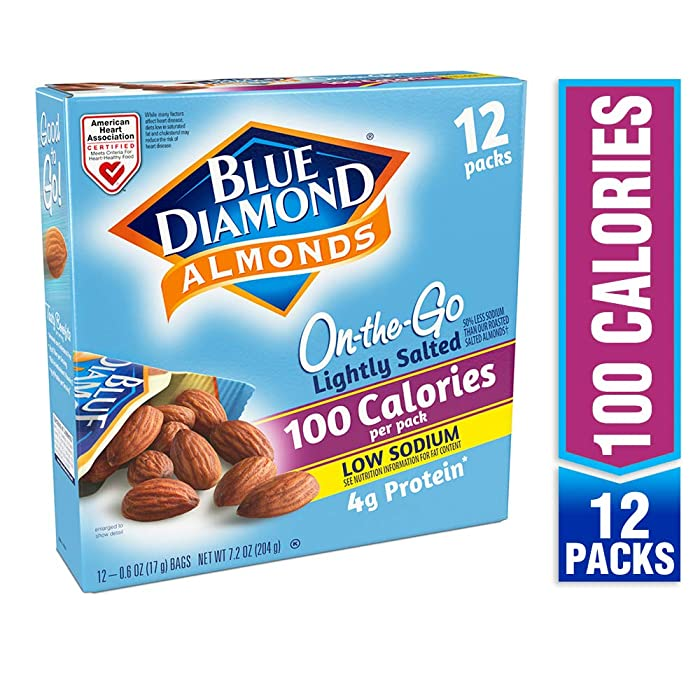 Blue Diamond Almonds On the Go 100 Calorie Packs, Lightly Salted, 12 Count