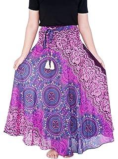 69ce4dfe01 Lannaclothesdesign Women's Long Maxi Skirt Bohemian Gypsy Hippie Style  Clothing