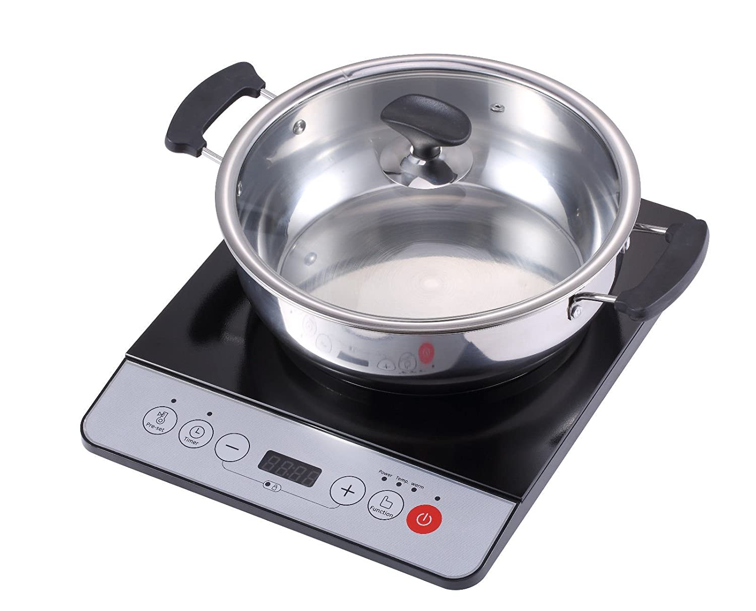 Midea 1500W Induction cooktop cooker with stainless steel pot