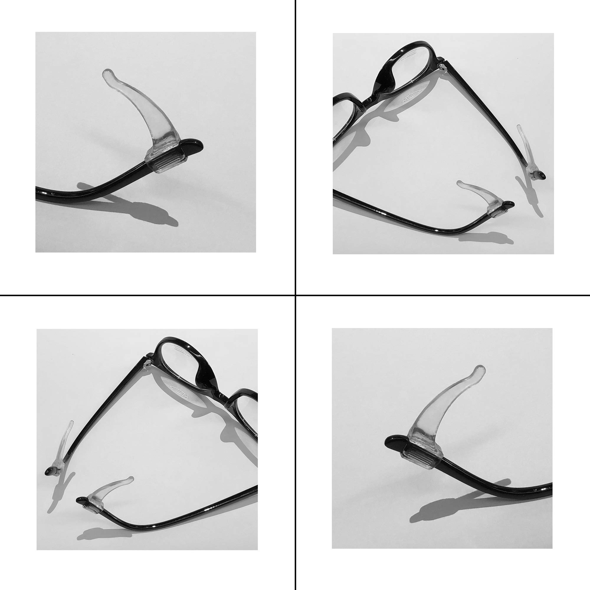 Keepons Superior Clear Prevent Eyeglass Slipping Anti Slip Anti Slide Eyewear Sunglasses Spectacles Glasses Temple Tips Sports Ear Hooks Sleeves Retainer (10 Pairs)