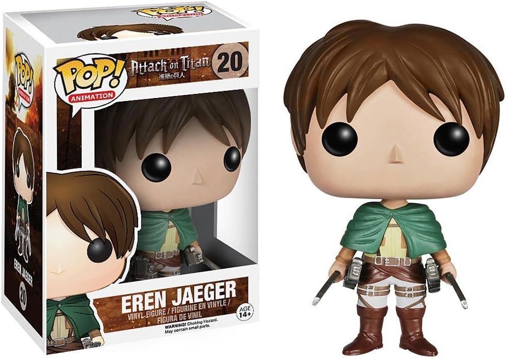 Attack on Titan POP! Vinyl Figura Eren Jaeger 10 cm: Amazon.es: Juguetes y juegos