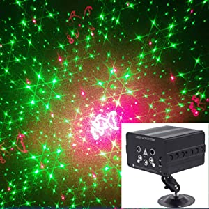 Disco Ball Lights Dj Disco Lights LED Stage Light Projector Strobe lights Sound Activated with Remote Control for Xmas Club Bar KTV Holiday Dance Christmas Birthday Home Decoration