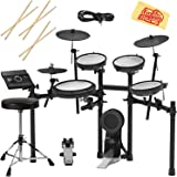 Roland TD-17KV-S Electronic Drum Set Bundle with Drum Throne, 3 Pairs of Sticks, Audio Cable, and Austin Bazaar Polishing Cloth