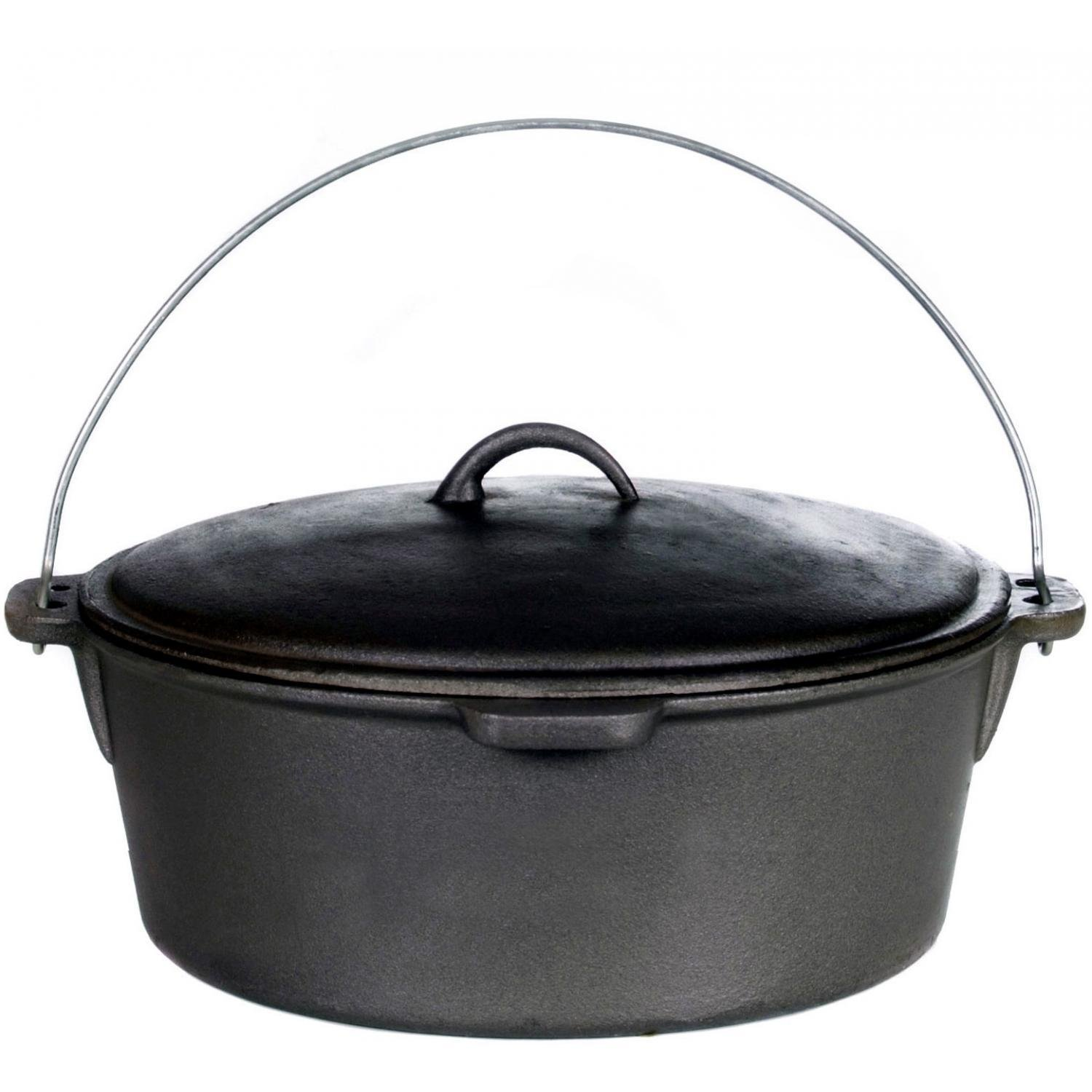 Cajun Cookware 20-quart Seasoned Cast Iron Dutch Oven - Gl10491s