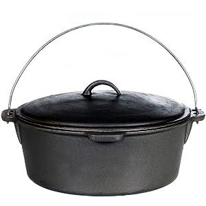 Cajun Cookware 20-quart Seasoned Cast Iron Dutch Oven - Gl10491s