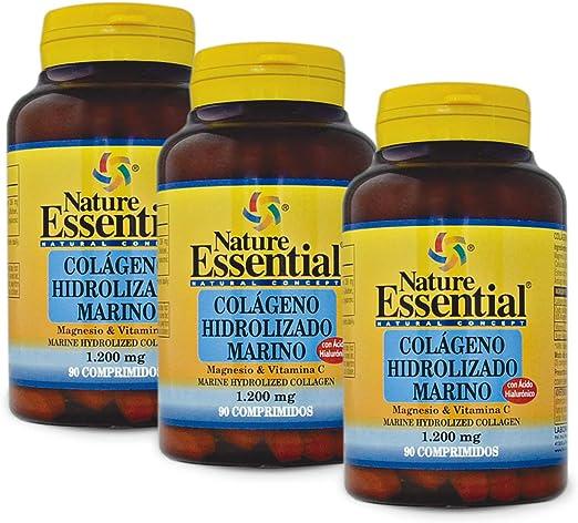 Colágeno marino hidrolizado + magnesio +vitamina C. 1200 mg. 90 comprimidos (Pack 3 unid.): Amazon.es: Salud y cuidado personal