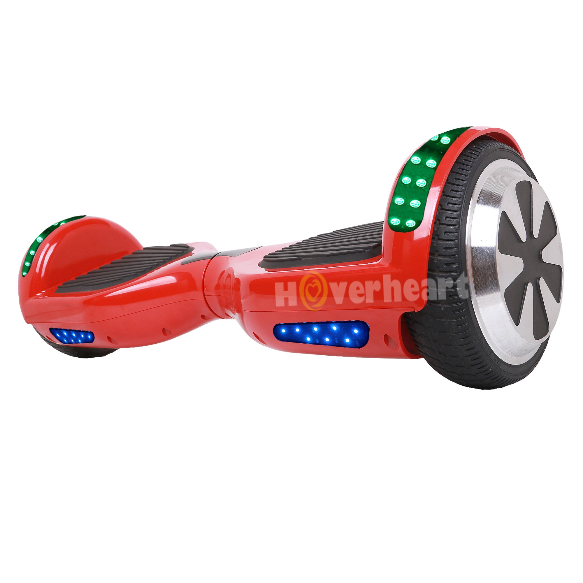 Hoverboard 6.5'' UL 2272 Listed Two-Wheel Self Balancing Electric Scooter with Top LED Light And Bluetooth Speaker (Red)