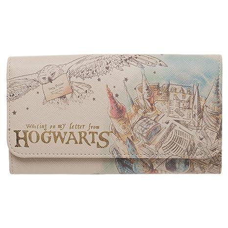 BIOWORLD MERCHANDISING Portefeuille à rabas officiel Harry Potter - Hogwarts (Poudlard) Monedero, 17