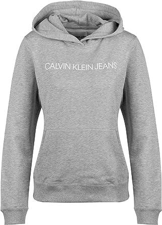 Calvin Klein CK Wmn Hoody Institutional Lt Grey: