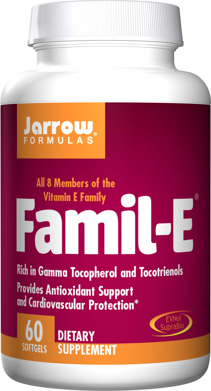 Jarrow Formulas Famil-E, Supports Cardiovascular Health, 60 Softgels by Jarrow Formulas