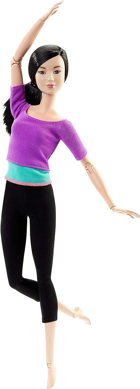 Barbie Fashionista Made to Move, Muñeca articulada top color lila (Mattel DHL84)