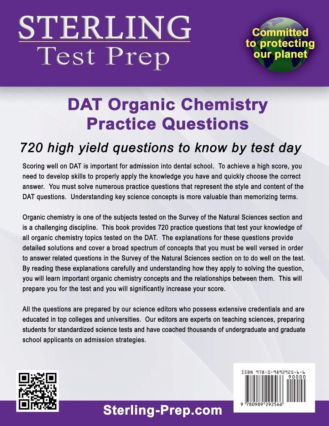 Buy Sterling Test Prep DAT Organic Chemistry Practice Questions