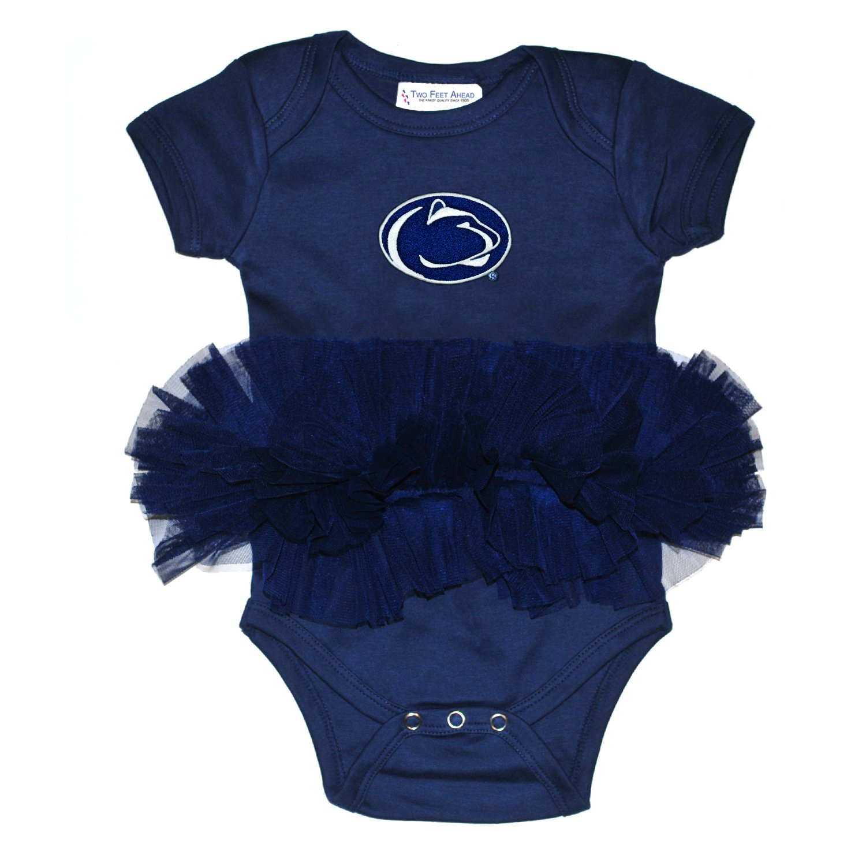 Penn State Nittany Lions Newborn Infant Tutu Creeper Bodysuit 0-3 Months