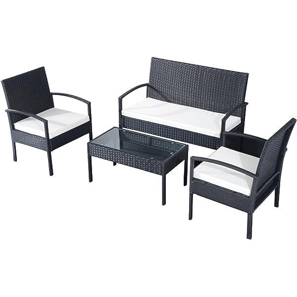 Beneffito Tulum - Conjunto Muebles de jardín en Resina Trenzada ...
