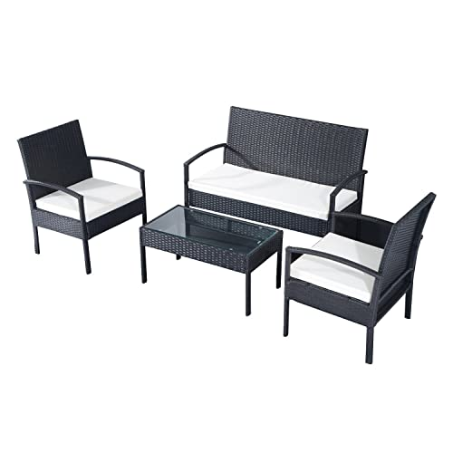 EBS 3 Piece Rattan Outdoor Garden Furniture Patio Set ...