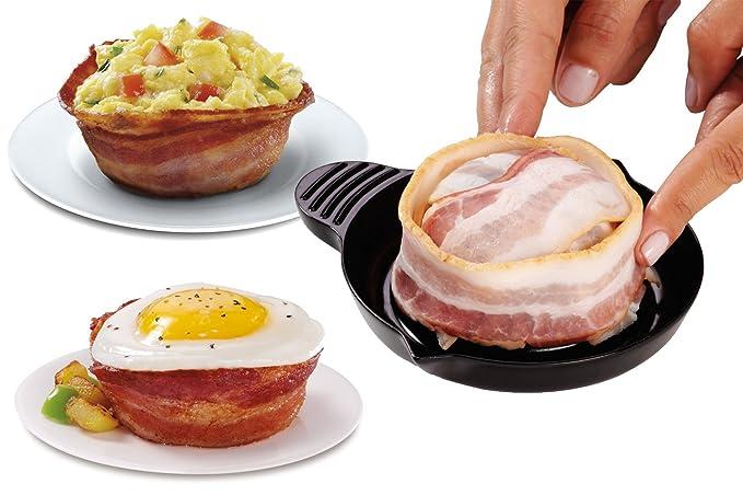 2 moldes para cocción forma Horno Microondas Cocina Bacon ...