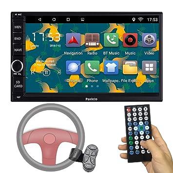 Panlelo C12 Steering Wheel Control Android 60 Head Unit Car Stereo Car Gps Navigation 7 Inch Car Radio Touch Screen Bluetooth Wifi Mirror Link Quad