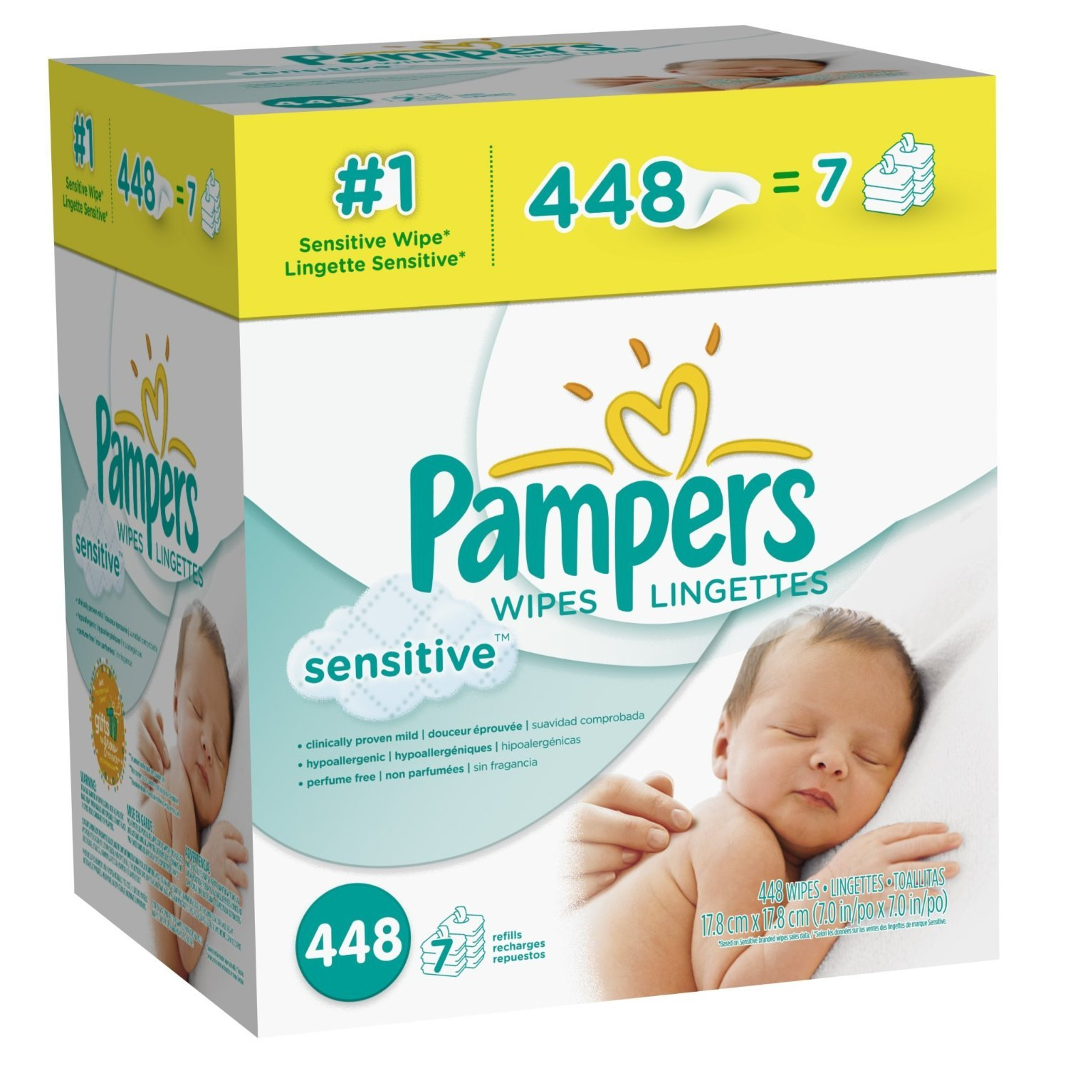 Amazon.com: Pampers Sensitive 896 wipes / Lingettes: Health & Personal Care