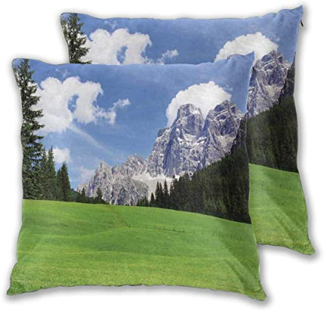 Mountain View Throw Pillow Case 16x16