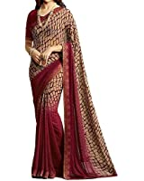 Ruchika Fashion Georgette Saree With Blouse Piece(Isha-Variations)