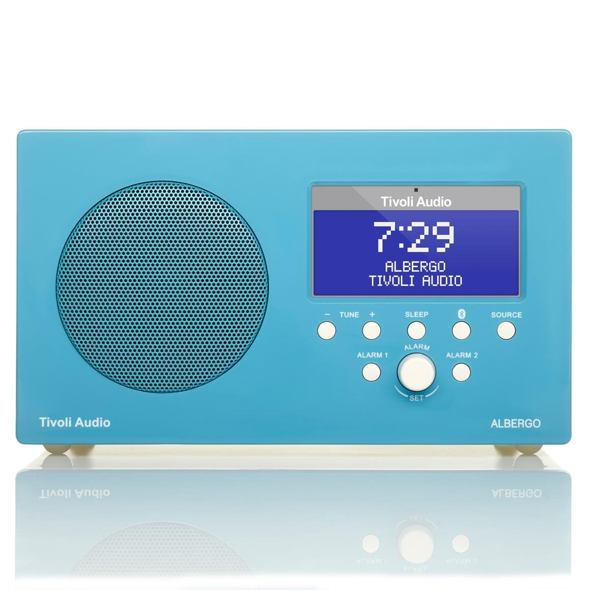 Tivoli Audio Albergo AM/FM Dual Alarm Clock Radio with Bluetooth - Gloss Blue Lenbrook Canada (Audio)